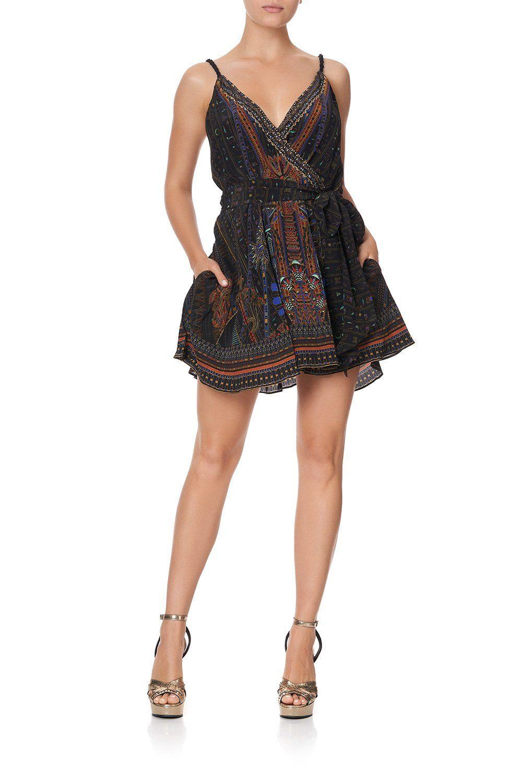 Mini wrap dress with twist straps gateway to giza in 2020