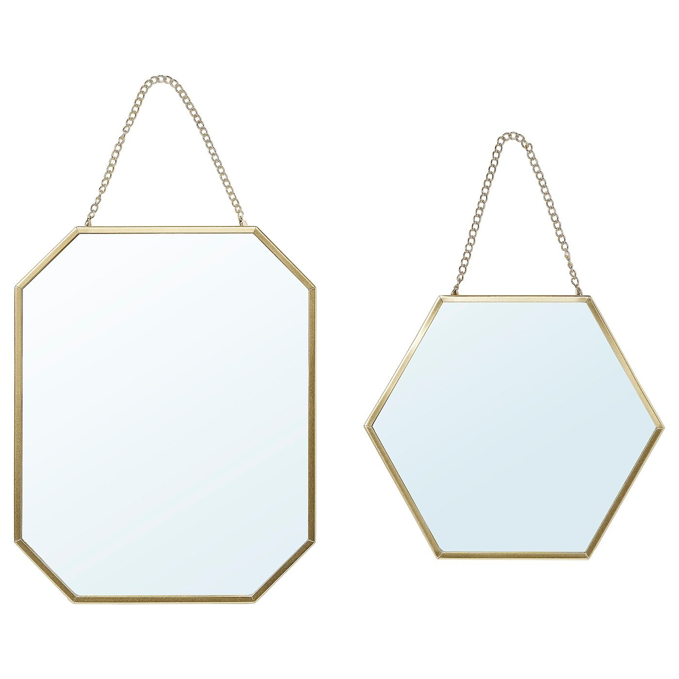 Lassbyn Mirror Set Of 2 Gold In 2020 Mirror Ikea Mirror