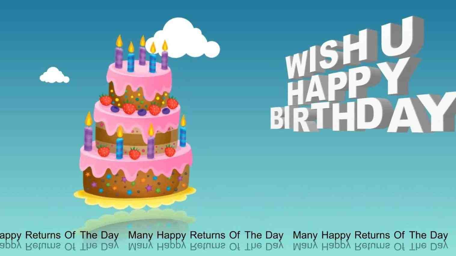 Happy Birthday 3d Animation Free Download Hd Printable Cards For Mom Remarkable Print