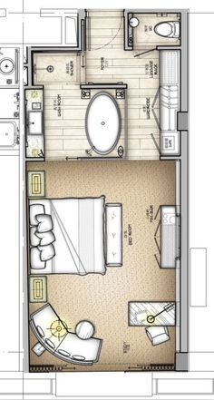 Master Suite Floor Plans Dressing Rooms typical w hotel guestroom plans - google search | plans