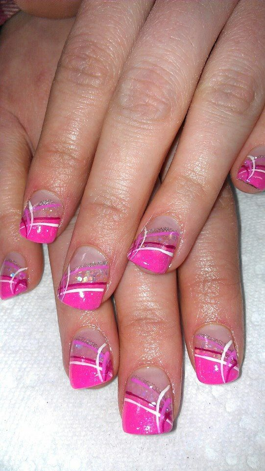 Classy Nails:) oh you fancy huh! PINK!   My Style   Pinterest ...