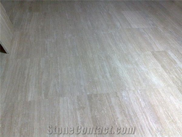 Silver Travertine Floor Tile Turkey Grey Travertine Stonecontact