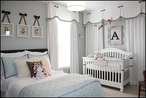 shared baby and teen room | girls shared bedroom ideas | baby