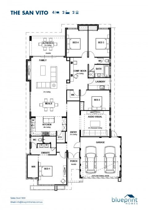 The san vito perth bedrooms and house the san vito blueprint homes malvernweather Images