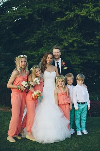Peach and Turquoise Wedding {Love Made Visible} images