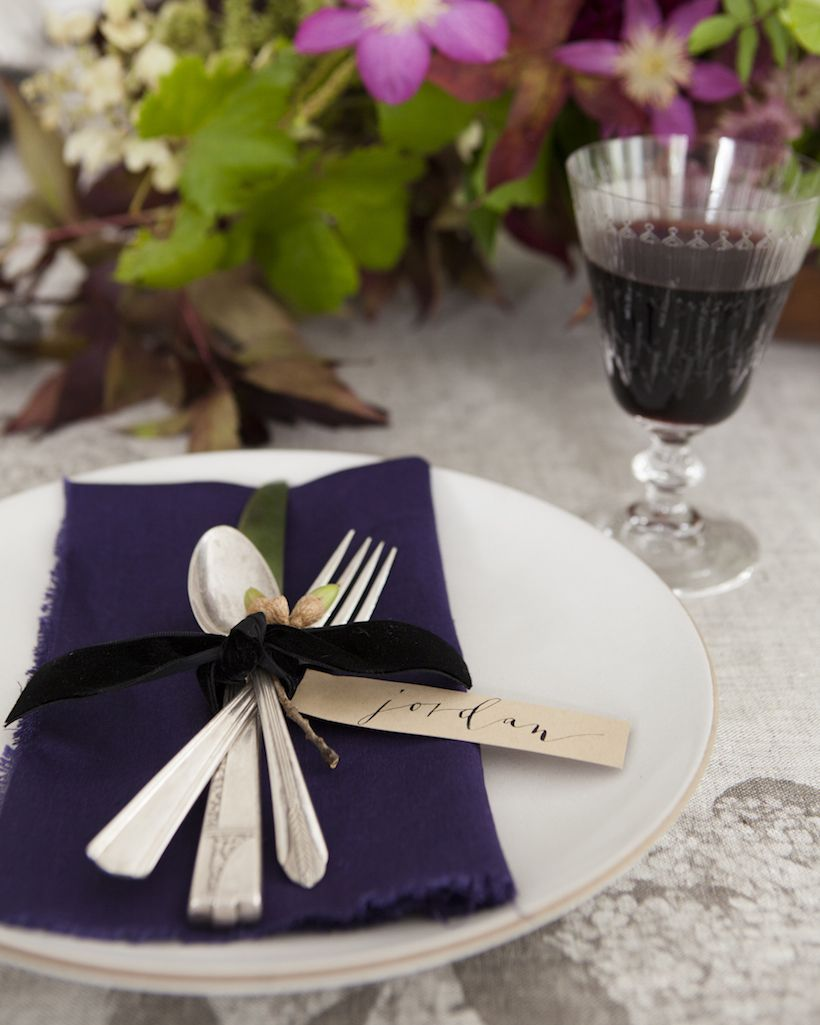 Sneak Peek from My Book Setting the Fall Table - Camille Styles & Sneak Peek from My Book: Setting the Fall Table | Purple accents ...