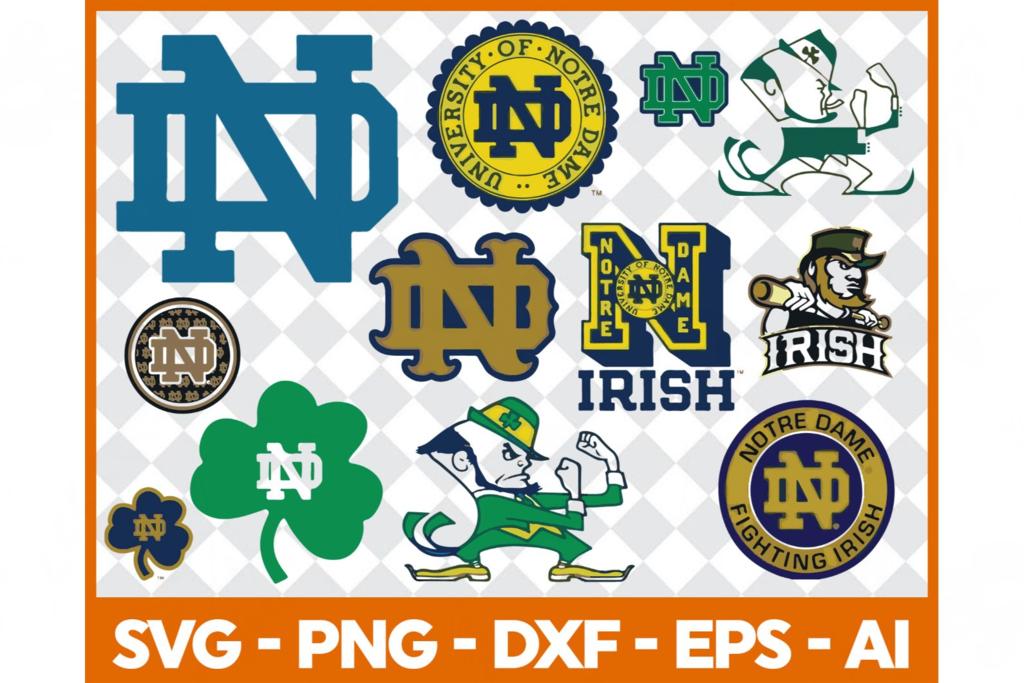 Notre Dame Fighting Irish Svg Football Svg Football Gift Notre Dame University Notre Dame Foot Fighting Irish Football Fighting Irish Notre Dame Fighting Irish