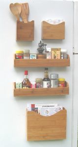 magnetic spice rack and storage shelf bamboo shannontheorganizer rh pinterest com