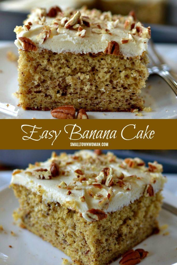 Easy Banana Cake Recipe Banana Sheet Cakes Banana Cake Recipe Easy Banana Cake Recipe