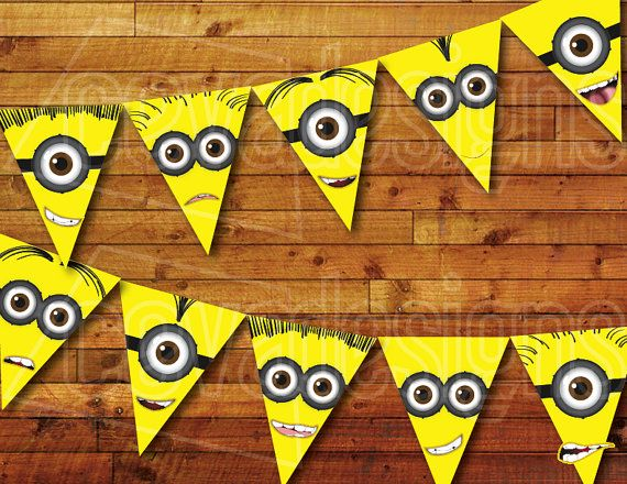 Printable Minion Birthday Decoration Party By CEVADesigns