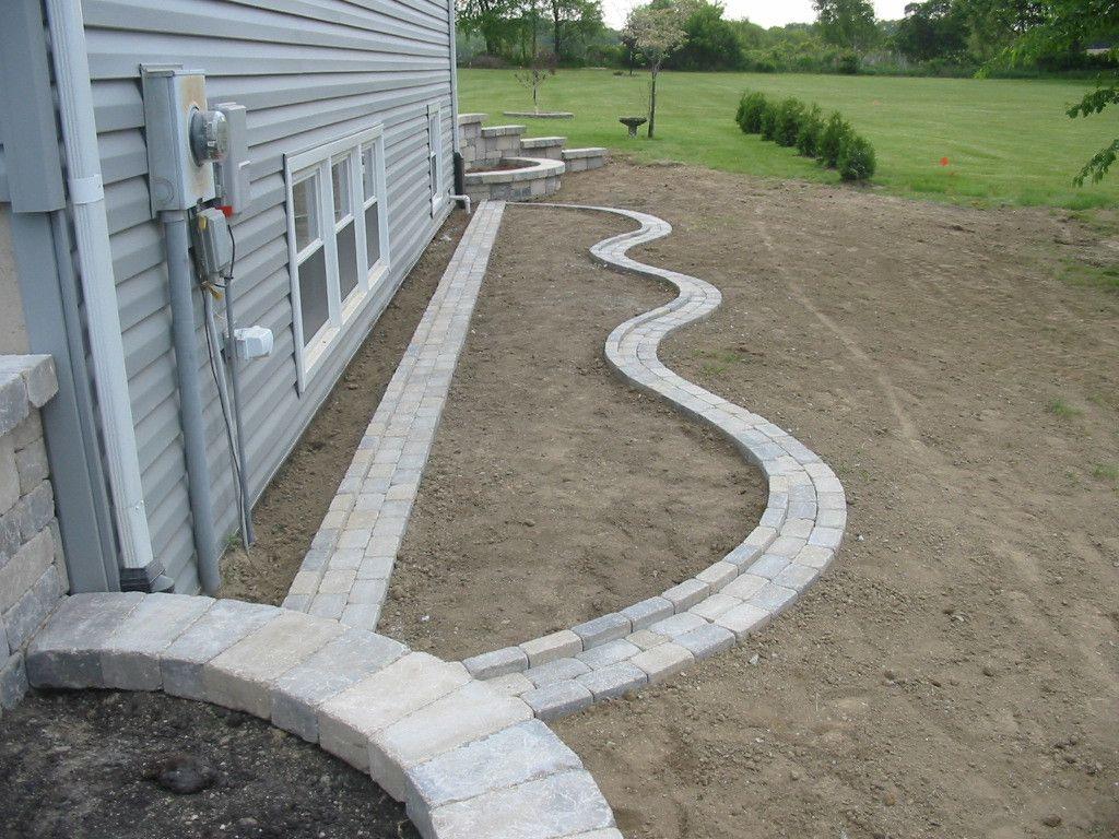 Paver Edging Simons Landscaping Chesterton In Front Yard Landscaping Design Brick Garden Edging Landscape Edging