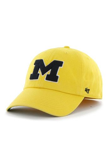 47 Michigan Wolverines Mens Yellow 47 Franchise Fitted Hat - 4801663 ... 0f6b9a2c306
