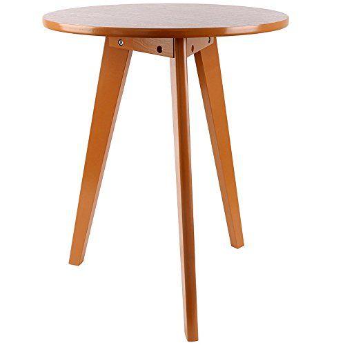 Three Legged Solid Wood End Table Elegant Round Coffee Table
