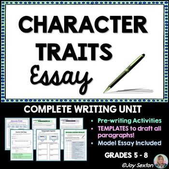 character traits essay literary essay writing for any text  character traits essay literary essay writing for any text