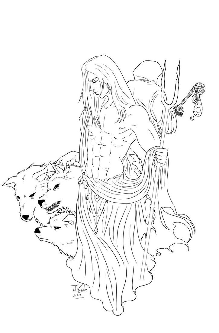 Hades Lineart By Destinyfall On Deviantart Hades Coloring Pages