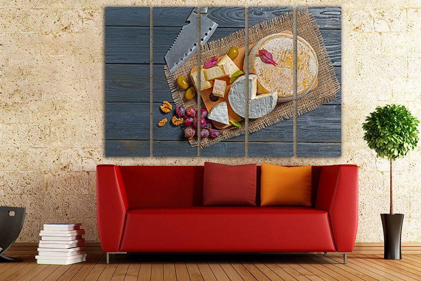 Cheese Canvas Nut Wall Decor Grapes Wall Art Kitchen Decor Etsy Kitchen Decor Etsy Kitchen Wall Art Living Room Art