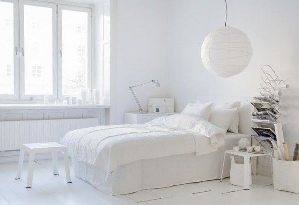 Stockholm White Interiors with White Bemz Cover for IKEA
