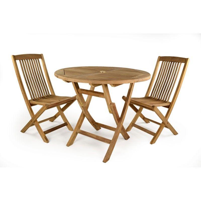 Witham 2 seat Folding Round Teak Set - TK-S001 | Best Garden ...