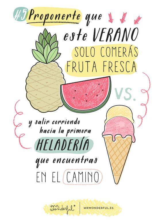 Helados Frases De Verano Frases Mr Wonderfull Y Verano