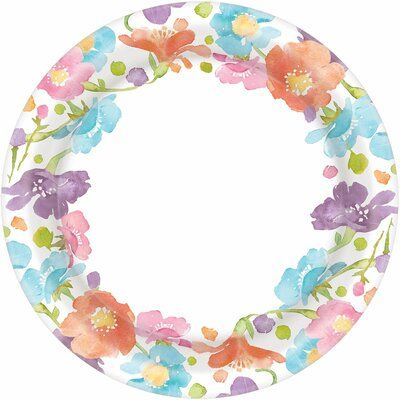 Amscan Spring Has Sprung Paper Disposable Dinner Plate Spring