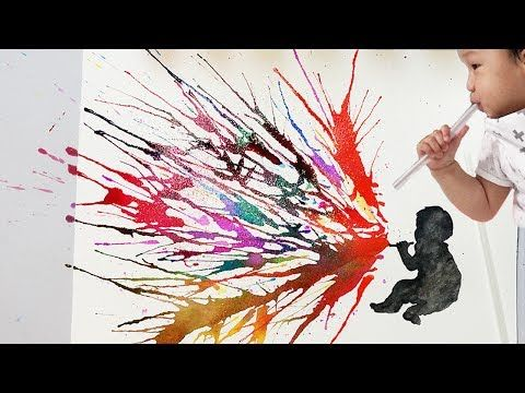 Blow Painting Techniques With Straws Kids Imagination Painting