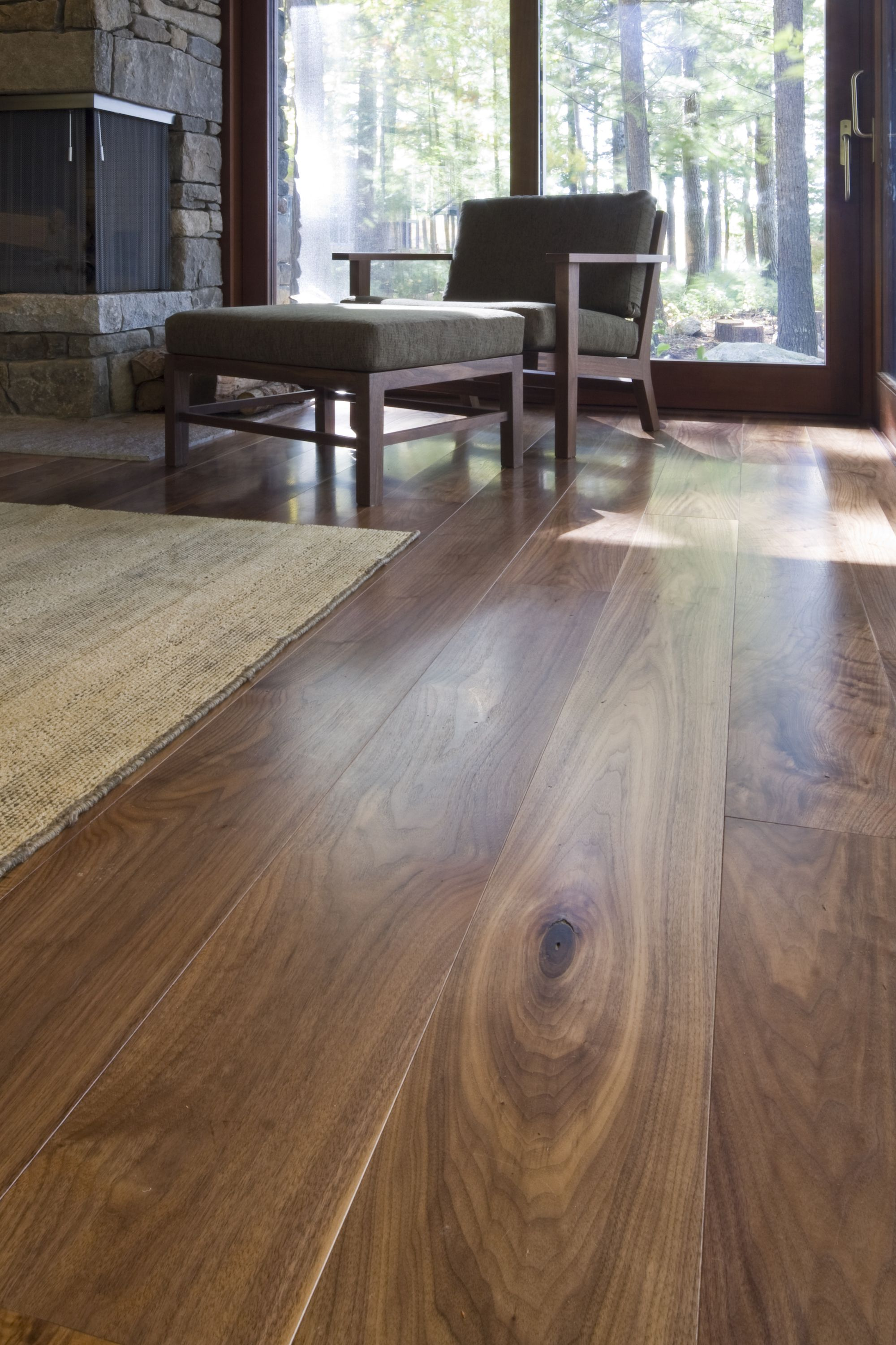 Carlisle Wide Plank Floors Walnut Flooring In A Room With
