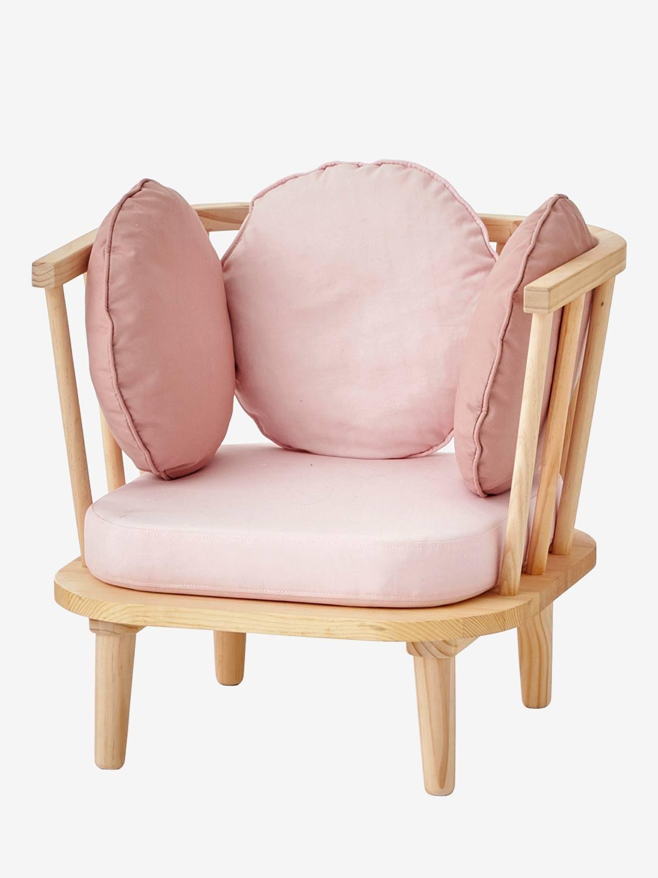 Retro Sessel Fur Kinderzimmer Von Vertbaudet In Rosa Natur Nur 2 95 Versand Kinderzimmer Jetzt Bei Vertbaudet Bestellen Armlehnen Sessel Mobelideen