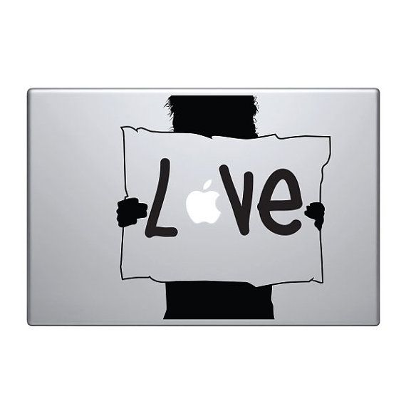 Love Apple Vinyl Decal Sticker To Fit Macbook Pro - Custom vinyl decals for macbook pro