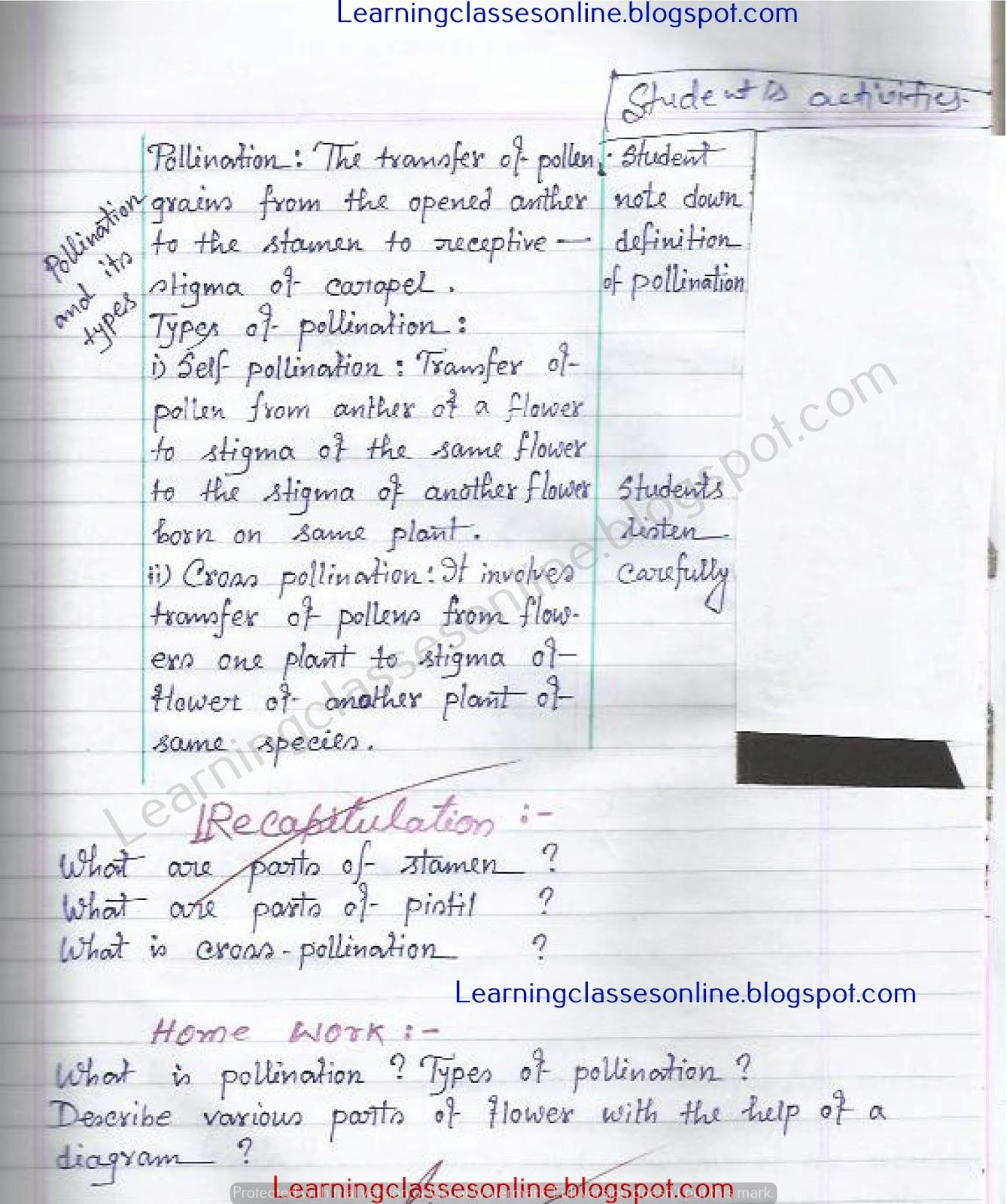 Middle School Biology Lesson Plans Sample Lesson Plan In