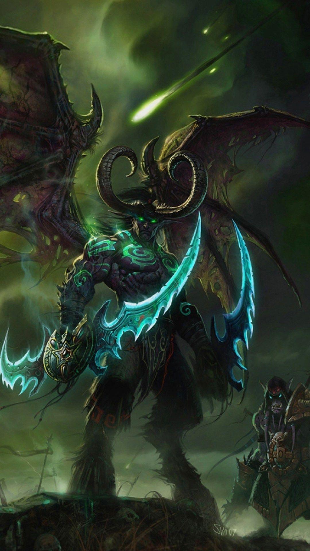 Wow Wallpaper For Iphone 6 World Of Warcraft Wallpaper Warcraft Art Illidan Stormrage