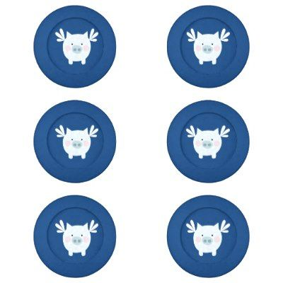 Blue Fairy Pig Button Covers Pack Of Small Button Covers Who could resist these adorable & fun button covers! Spruce up your wardrobe today! What a great gift for any pig lover or for someone who has a pet pig! Oink if you love these ado...