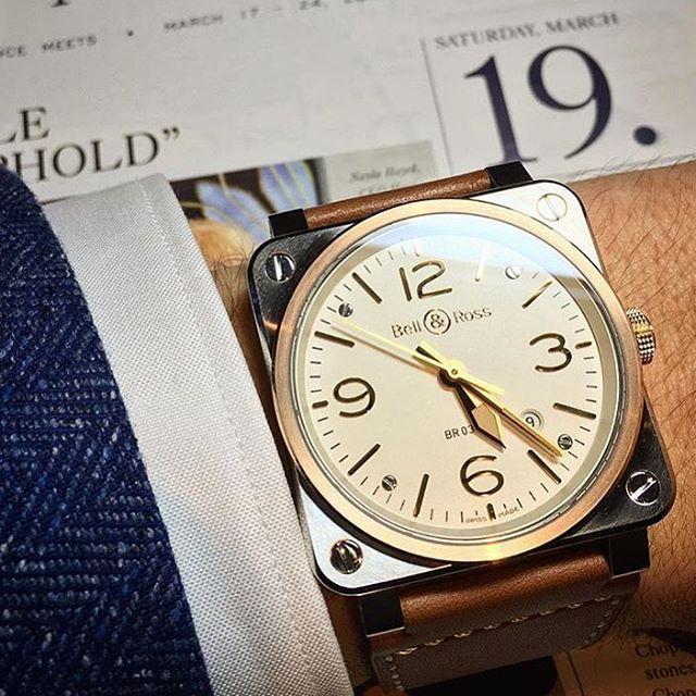New Br 03 92 Steel Rose Gold By Bellross Scandinavia Baselworld Baselworld2016 Bellross Bellandross Bellrosswatches Bell Ross Watches For Men Watches