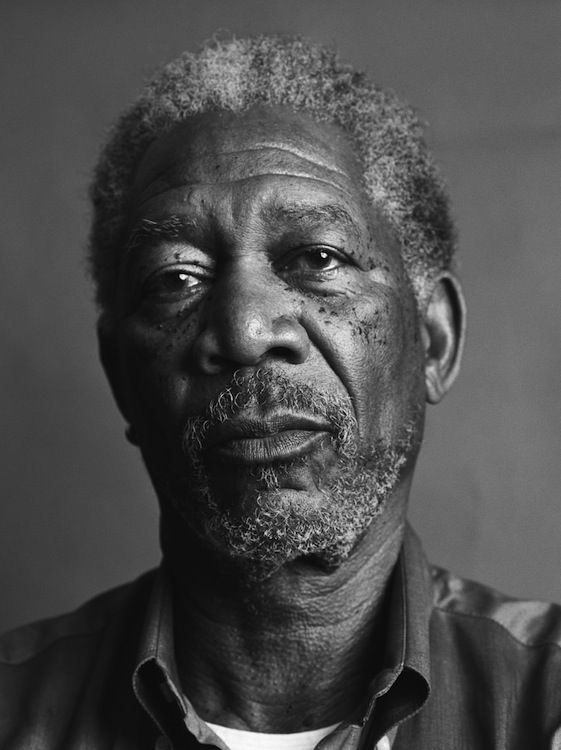 Morgan Freeman by Mark Abrahams | Black and White ...