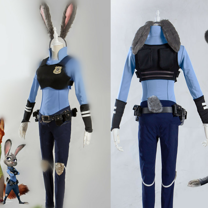 {Reservation}Zootopia Rabbit Judy Fox Nick Cosplay Costume CP165519