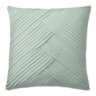 """Pleated Velvet Pillow Cover, 22"""" X"""