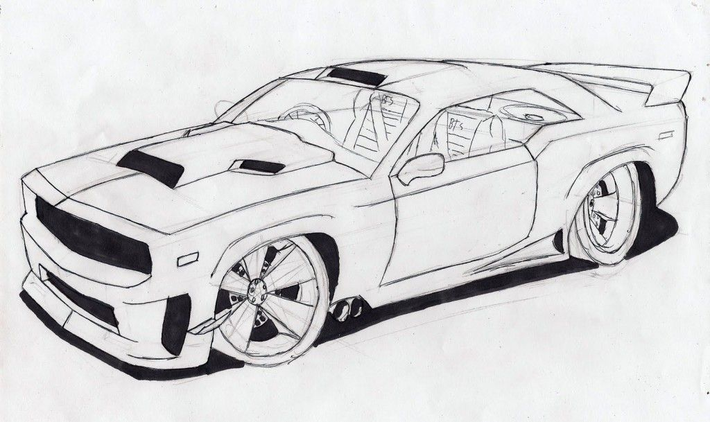 draw cool cars Projects to Try Pencil drawings Car