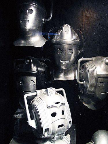 Cybermen heads - Llangollen Exhibition, via Flickr.