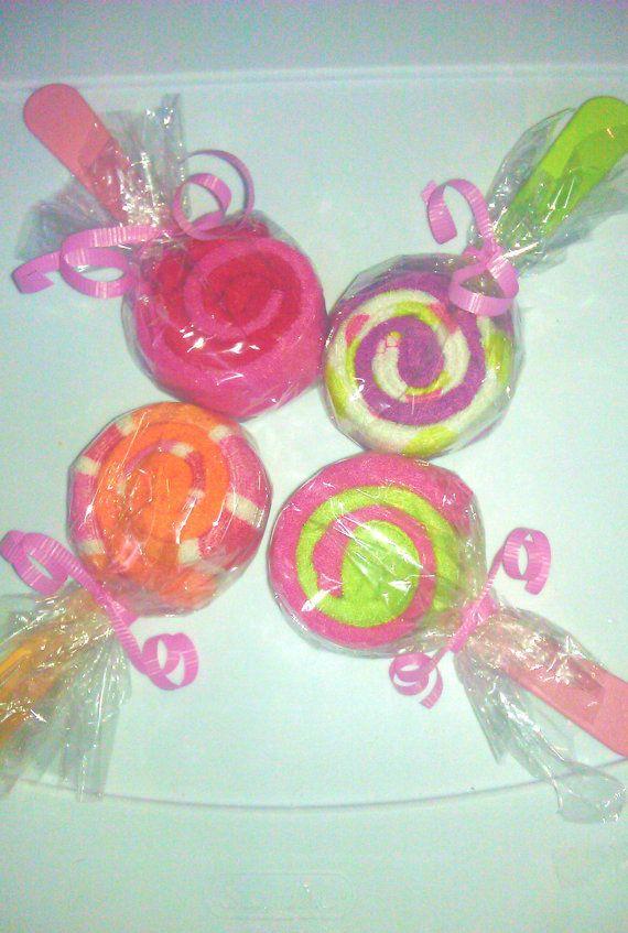 Baby Shower Favors Washcloth Lollipops