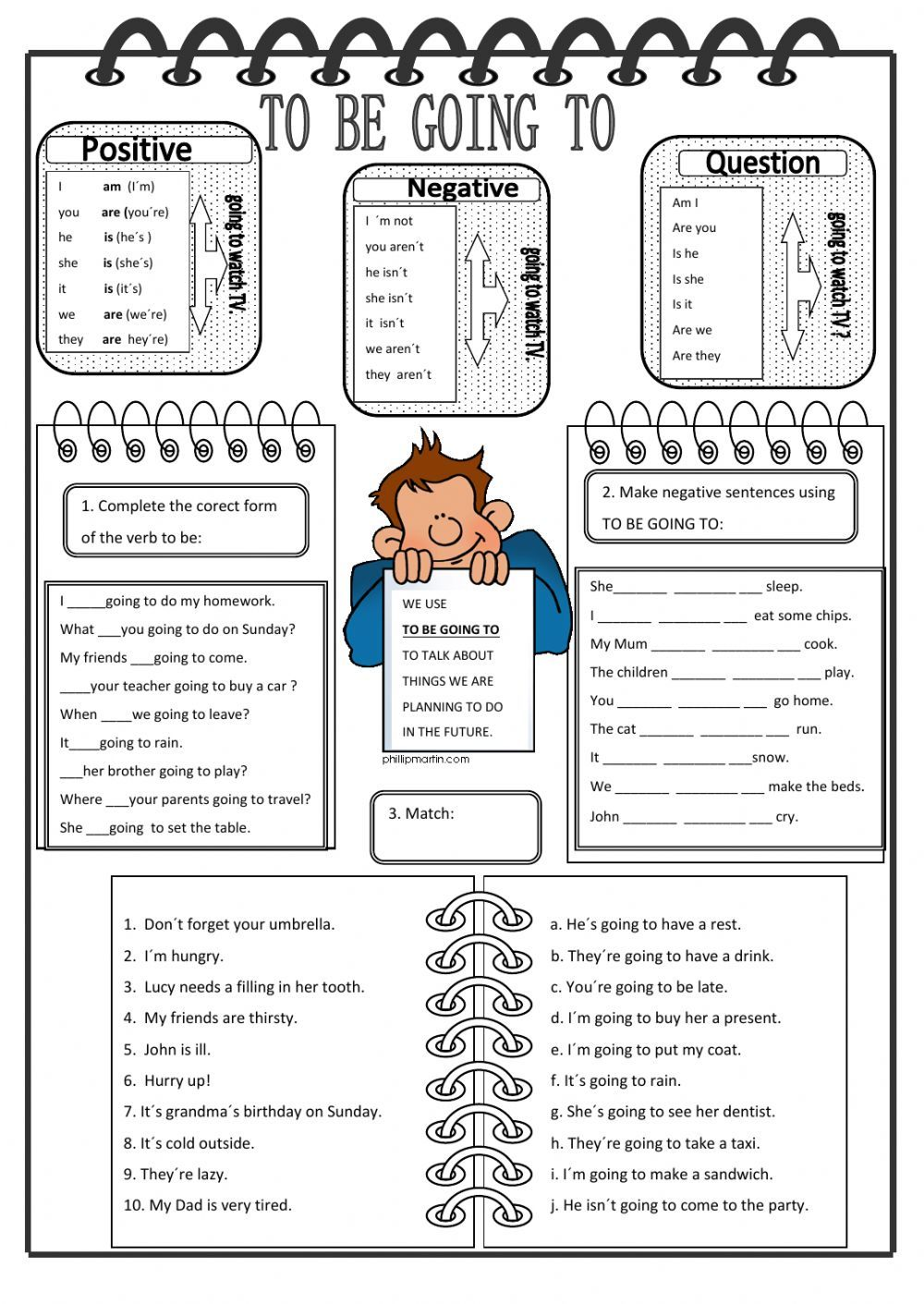To be going to interactive and downloadable worksheet. You