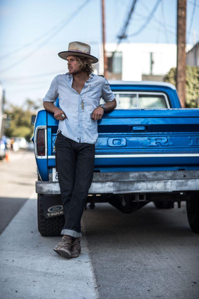322961ddfa954 hawt!!! and the guy looks pretty sweet too.... loooove old trucks....Nick  Fouquet - hat maker