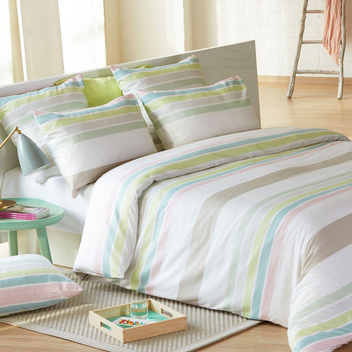 stripeslaf mako satin bettw sche pinch mit rei verschluss. Black Bedroom Furniture Sets. Home Design Ideas