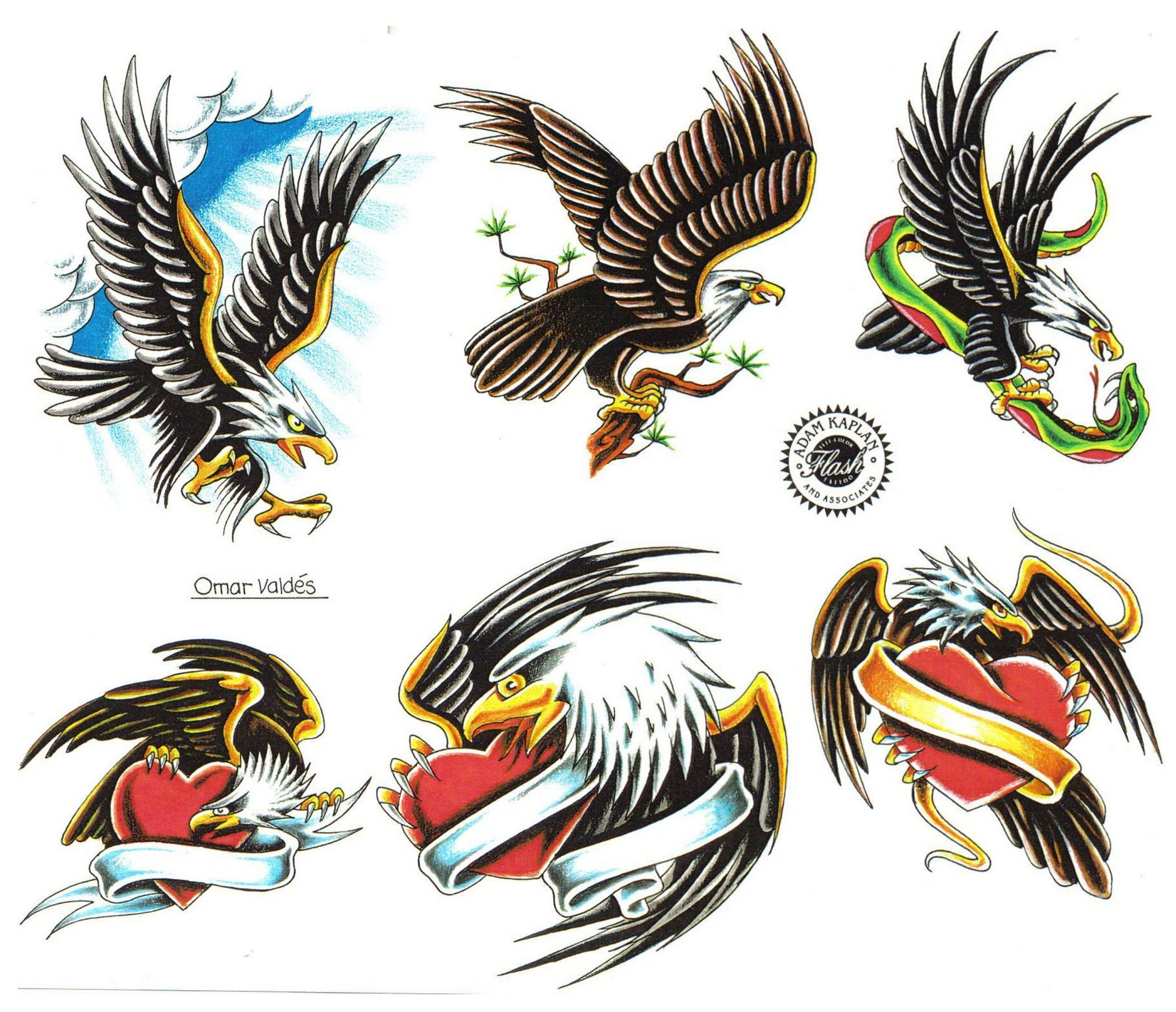 American eagle tattoos high quality photos and flash - Tattoo Drawing Eagle Flying Tattoos Art