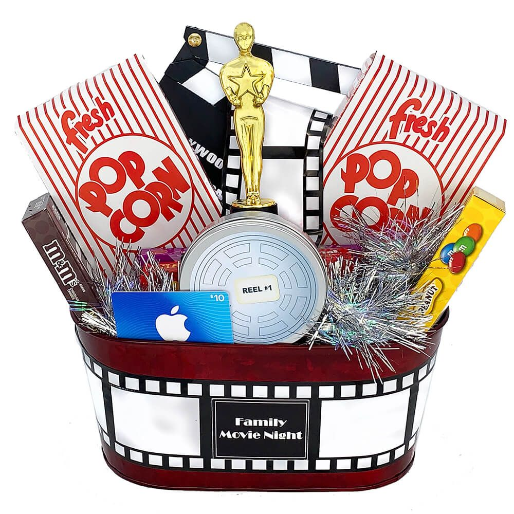 Family movie night gift basket small in 2020 movie