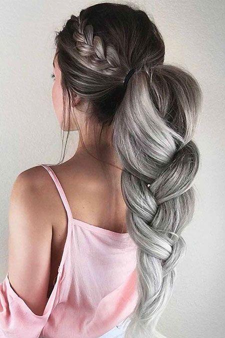 Frisuren lang zopf