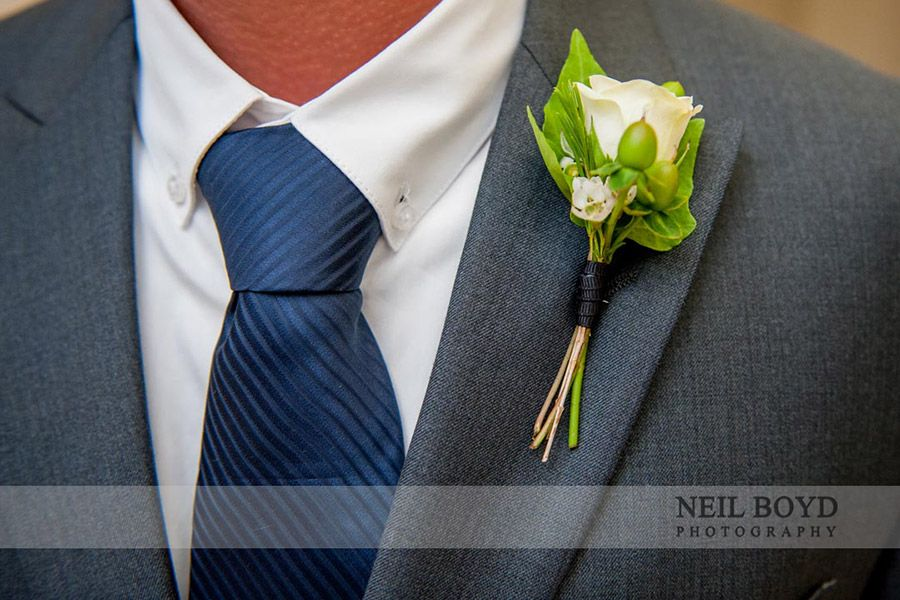 Navy Blue Tie Grey Suit Raleigh Wedding Photography Neil Boyd
