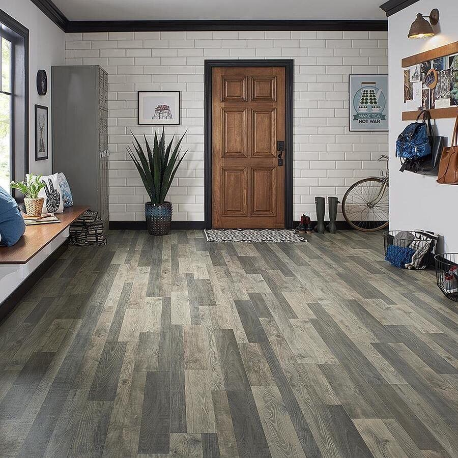 Flatiron Oak Embossed Wood Plank Laminate Flooring! The