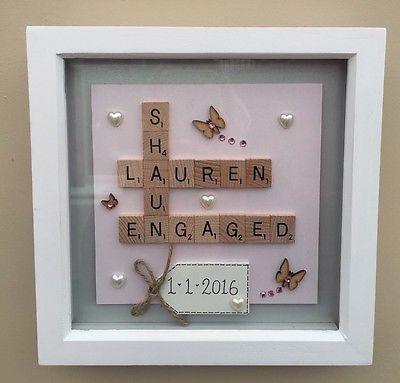 Box frame scrabble letters valentine family wedding anniversary ...