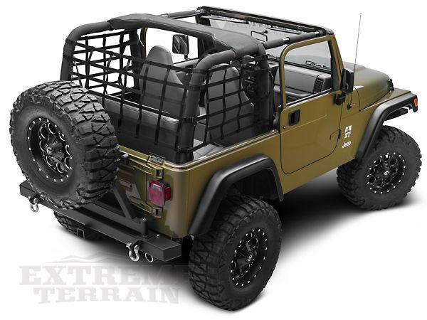 Redrock 4x4 Jeep Wrangler Cargo Wrap Around Net One Piece J101185 92 06 Jeep Wrangler Yj Tj Jeep Wrangler 2006 Jeep Wrangler Jeep Wrangler Yj