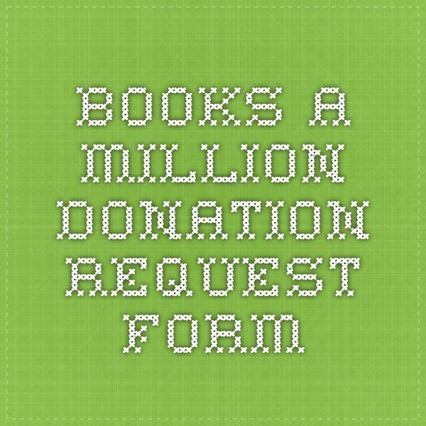BooksAMillion Donation Request Form  WomenS Auxiliary
