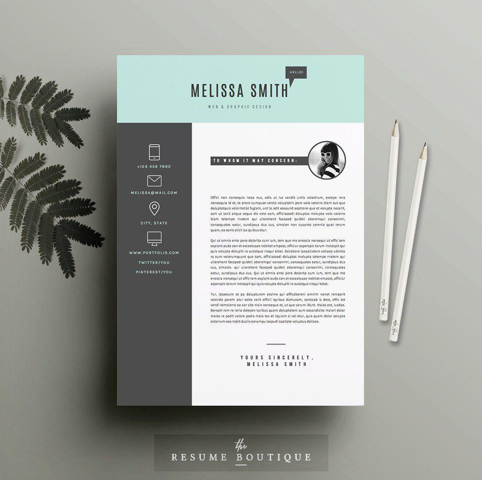 Resume Template 4 pages Modèle de CV et lettre de